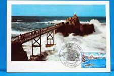 FRANCE CPA   Carte Postale Maximum BIARITZ LE ROCHER DE LA VIERGE   Yt 1903 C