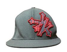 Zoo York Baseball Cap Gray Red Logo Unbreakable Flat Bill Adjustable Snapback