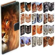 For Samsung Galaxy Note Series - Lion Design Print Flip Case Wallet Phone Cover