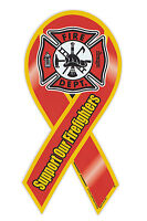 Magnetic Bumper Sticker - Support Firefighters (Fire Department) - Ribbon Magnet