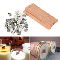 Wax Candle Core Wooden Wick Holder Making Supplies DIY Craft Candle Sustainer