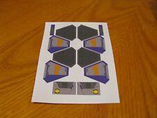 Custom Purple Sticker Sheet for Lego Star Wars sets #75135, 75038, 9494, 7661