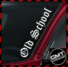 Old School Car / Van Windscreen Decal Sticker euro Jap JDM -17 Colours 550mm
