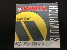 "Worth Gold Dot Asa 12"" Slowpitch Softball Yellow With Red Stitch Ys44Rla3 New!"