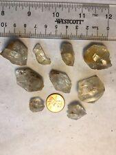 9pcs Natural Herkimer Quartz Crystal Cluster NY