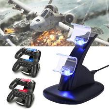 PS4 Playstation4 Ladestation Dockingstation USB Dual Controller Charger LED DE