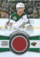 (HCW) 2015-16 Upper Deck Game Jersey JASON POMINVILLE Fabric Swatch UD 02514