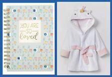 Baby Bundle Unicorn Robe and Llama Journal Shower Gift New