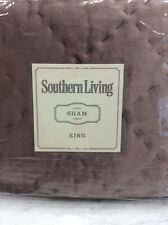 NEW PRICE!  Southern Living Westover King Size Shams (2), Mauve Velvet