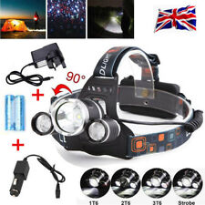 12000LM 18650 T6 3-LED Headlamp Torch Head Lamp Rechargeable Flashlight +Charger