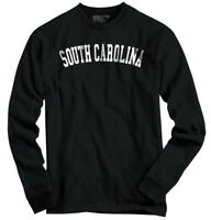 South Carolina State T Shirt  Souvenir University Font Long Sleeve Tee