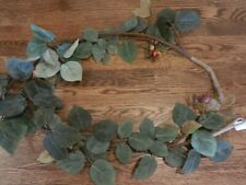 New Pottery Barn Faux Rose Hips Garland Autumn Fall Thanksgiving