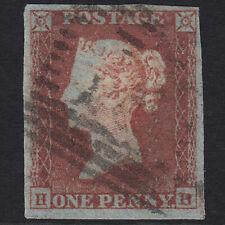 L6 GB QV 1841 1d RED-BROWN PLATE 162 SG8-B1(1) HB GU IN SCOTLAND 4 MARGINS