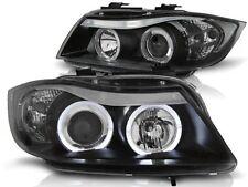 HEADLIGHTS RHT LPBM76 BMW 3 SERIES E90 / E91 2005 2006 2007 2008 ANGEL EYES