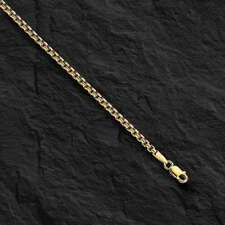 14kt Yellow Gold Round Box Link Pendant Chain/Necklace 24 1.7mm 4.5 grms RBX100