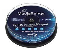 [MR507] 1 Spindel 10 Stück Mediarange Bluray 50GB Gigabyte BD-R DL Rohling 6fach