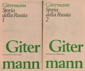 Storia della Russia (2 volumi) - Valentin Gitermann (La Nuova Italia) [1973]