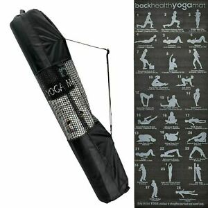 NEW Yoga Mat with Carrier Bag Gym Exercise Thick Fitness Pilates Mats Non Slip