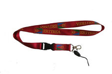 ERITREA RED COUNTRY FLAG LANYARD KEYCHAIN PASSHOLDER ..  NEW