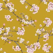 Cherry Blossom Viscose Stretch - Yellow - Fabric Dressmaking Fashion