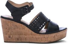 Geox D Jaleah A Cork Wedge Sandals Black UK 5 rrp £95 EM15 27
