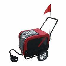 Aosom Elite Jr Dog Bike Trailer Pet Stroller Red/Black Rustic, Vintage