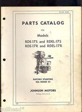 1955 JOHNSON  25HP PARTS MANUAL/ RDE-17S/ RDEL-17S/ RDE-17R / RDEL-17R /376557