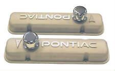 64-79 PONTIAC GTO FIREBIRD GP VALVE COVERS, CAST ALUMINUM FINSH, V8