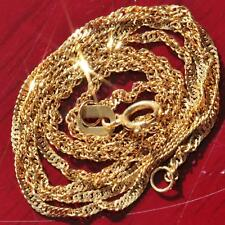 """Joe Rodeo 14k yellow gold necklace  22.0"""" Singapore link chain vintage 1.4gr"""
