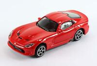 Burago 1/43 Diecast Model Car - Dodge Viper 2013 GTS SRT Coupe in Red
