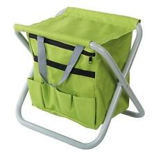 FOLDING STOOL SEAT  WITH STORAGE GARDENING FISHING CAMPING PICNICS  FESTIVALS