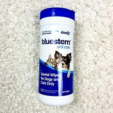 Bluestem Oral Care Pet Oral Care Dental Wipes 60 Count USA Made New Dog Cat