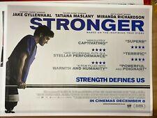 Stronger (2017) starring Jake Gyllenhaal - Original UK Quad Film Poster