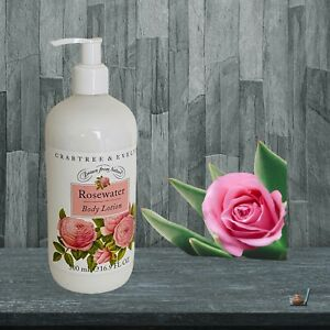 Crabtree & Evelyn Rosewater Body Lotion 16.9 fl oz 500 ml New with Pump
