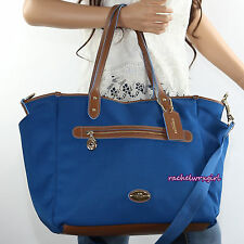 Coach Sawyer Signature Mineral Blue Baby Diaper Shoulder Bag Tote F37758