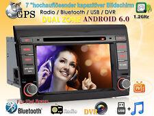 "Per Fiat Bravo 2007-2012 NAVI 7"" GPS DVD Autoradio Android 6.0 WIFI DVR SD 2 DIN"