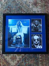 OZZY OSBOURNE autographed framed