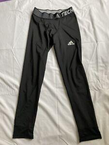 Adidas Techfit Leggings - Boys Large In Black - Used