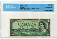 1954 $1 BANK OF CANADA LOW SERIAL*0000770* - VF-20 CERTIFIED CCCS