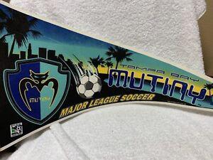 MLS Tampa Bay Mutiny Vintage Defunct Circa 1998 Logo Soccer Pennant
