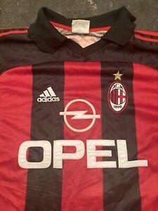 Vintage AC Milan Soccer Jersey Men's Size Small Adidas Short Sleeve Polo