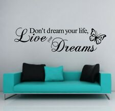 Don'T Dream Your Life Live Your Dreams Wall Quote Decal Vinyl Wall Art Sticker
