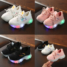 Toddler Baby Girls Boys Breathable Mesh Led Luminous Sport Run Sneakers Shoes