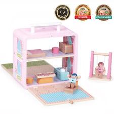 Boxset ® Niños Niños Juguetes de Madera Juego de Rol Juego Regalo Presente-Casa De Muñecas