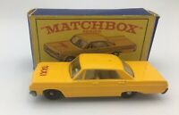 Vintage Matchbox Series Lesney No. 20 - Chevrolet Impala Taxi (New York )