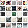 "18""Linen Decor Cover Pillowcase Waist Cotton Cushion Geometry Bohemian Sofa Home"