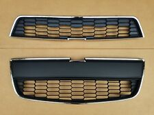 2PC Set 2012-2016 CHEVY SONIC SEDAN Front Bumper Upper Lower Grille NEW PAIR