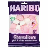 HARIBO CHAMALLOWS PINK & WHITE MARSHMALLOWS 130G SWEETS CONGRATULATIONS PRESENTS
