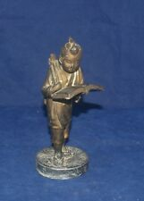 ANTIQUE JAPANESE BRONZE STATUE FIGURE MEIJI PERIOD YOUNG SCHOLAR WITH BOOK