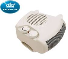 White Home & Office Portable Adjustable Thermostat Fan Heater with Heat Settings